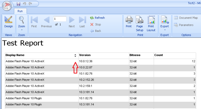 Enable Interactive Sorting in Reports 3